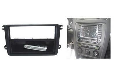 Car Audio ISO redukce pro Škoda Octavia II, VW Touran, Golf5, Roomster (jen2DIN), Passat B7, Caddy- 10334